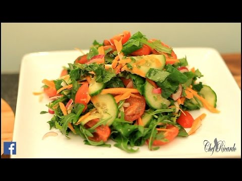 How To Lose Weight With Healthy Salad At Home In 5 Days (Jamaican Chef) | Recipes By Chef Ricardo