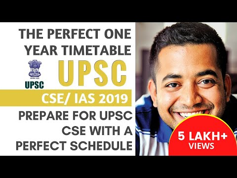 UPSC CSE/IAS 2019 - Perfect One Year Timetable For UPSC Aspirants By Roman Saini