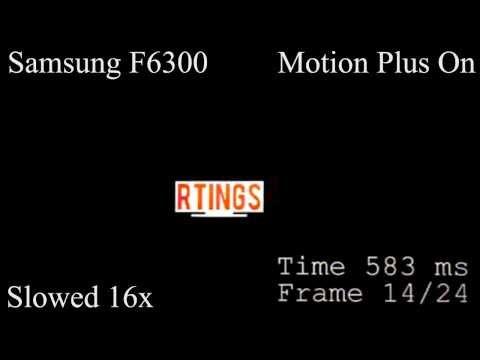 Samsung F6300 LED TV Motion Blur