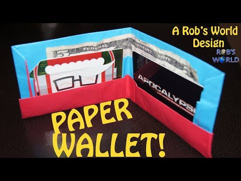 How to Make an Easy Paper Wallet (Origami) - Rob's World
