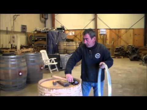 How to tighten a barrel head using flagging