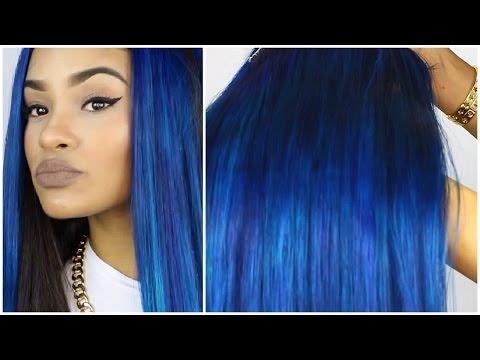 Blue Hair Tutorial! ft WowAfrican Hair