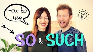 ¿Sabes cómo usar SO & SUCH en inglés?