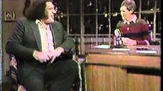 Andre, the Giant on Letterman