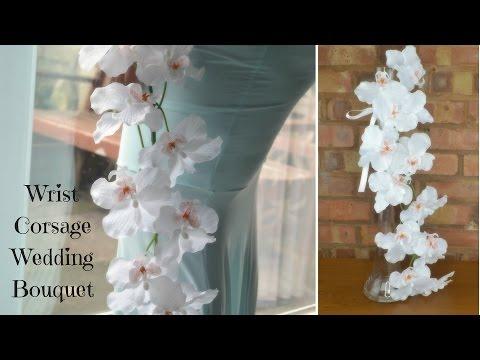 DIY Bridal Cuff Bouquet:  Corsage style wedding flowers