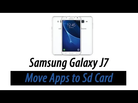 Samsung Galaxy J7 - How to Move Apps to the Memory Card