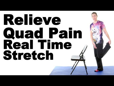 Relieve Thigh Pain with This Real Time Standing Quad Stretch - Ask Doctor Jo