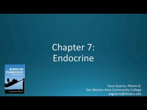 (CC) Top 200 Drugs Chapter 7 Endocrine Nursing Pharmacology by Suffix (Memorizing Pharmacology)