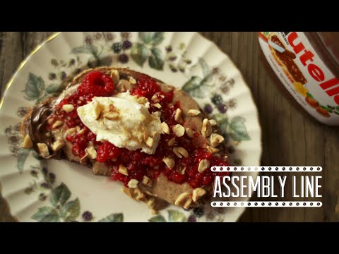 Nutella Toast with Raspberries | Assembly Line