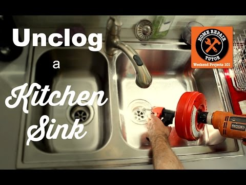 How to Unclog a Kitchen Sink Drain -- by Home Repair Tutor
