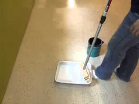 Polycrylic over painted concrete floors