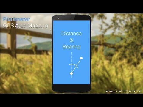 Planimeter - GPS Area Measure: adding way-points to Google Maps via distance and angle  inputs.