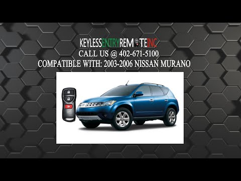 How To Replace Nissan Murano Key Fob Battery 2002 2003 2004 2005 2006