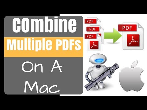 Combine Multiple PDF's Into One Using Automator on a Mac - FREE & EASY FOR BEGINNERS