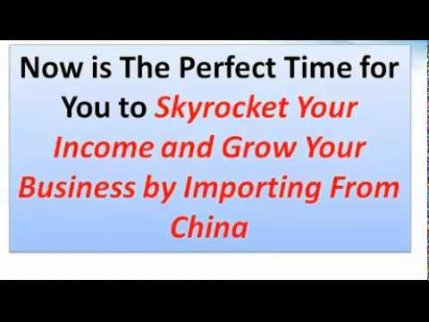 how to import from china!