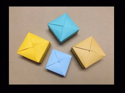 Paper Gift Box Origami with One Sheet of Paper