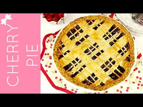 How To Make THE BEST Easy Sweet Cherry Pie with Braided Lattice Top // Lindsay Ann Bakes