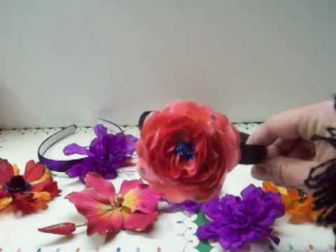 Homemade Flower Hair Clips and Headbands