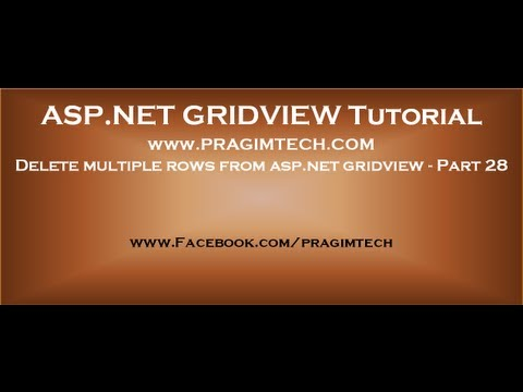 Delete multiple rows from asp.net gridview - Part 28