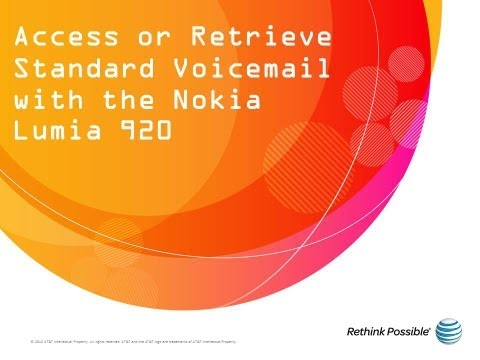 Access or Retrieve Standard Voicemail with the Nokia Lumia 920: AT&T How To Video Series