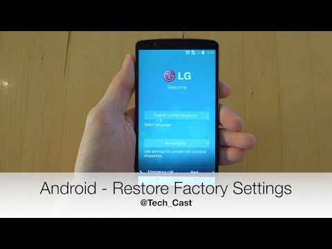 Android How To: Restore Factory Settings