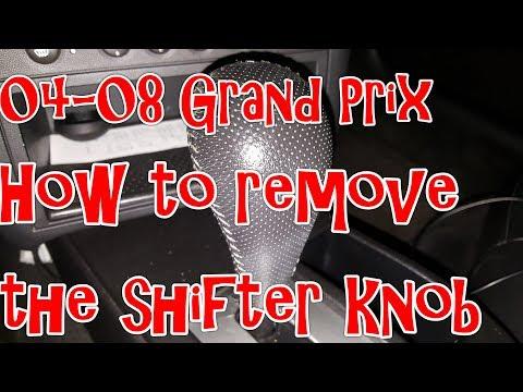 04-08 Pontiac Grand Prix - How to remove the Shifter Knob