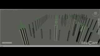 Foundation w/reinforcement, step by step build up made in Autodesk Navisworks 2015
