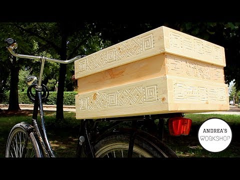 Wooden Hand Dovetailed Bicycle Box - Ep 067
