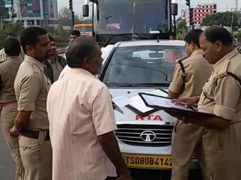 RTA checking vehicle's in Hyderabad