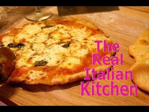 Pizza Dough Recipe - For thin crust crunchy pizza PART 1 - Real Italian Kitchen