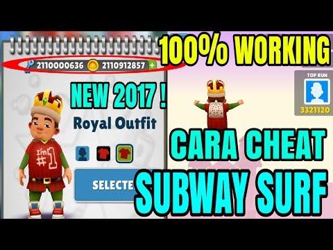 Cara Cheat Subway Surf Terbaru 2017 Unlimited Gold & Keys NO ROOT !   100%WORKING