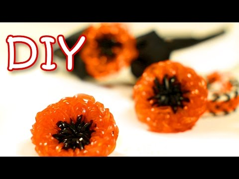 Rainbow Loom Poppy Flower Easy Charm - DIY Flower From Rubber Bands Hook Only