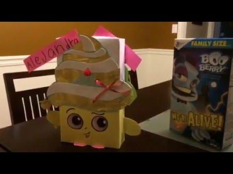 Shopkins Valentine's Box - Cupcake Queen :) Super easy!!!
