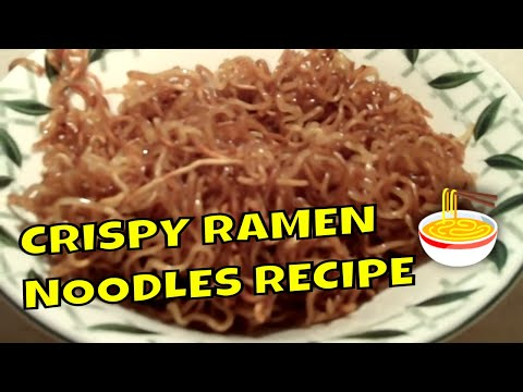 Tasty Crispy Ramen Noodles Recipe
