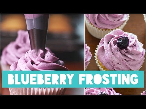 GORGEOUS BLUEBERRY CREAM CHEESE FROSTING | RECIPE