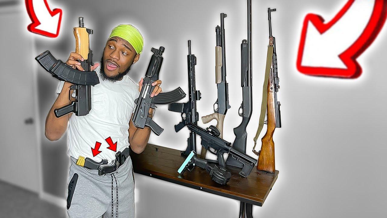 BruhmanTv's INSANE SECRET Gun Collection! *BEFORE WEAPON BAN IN AMERICA*