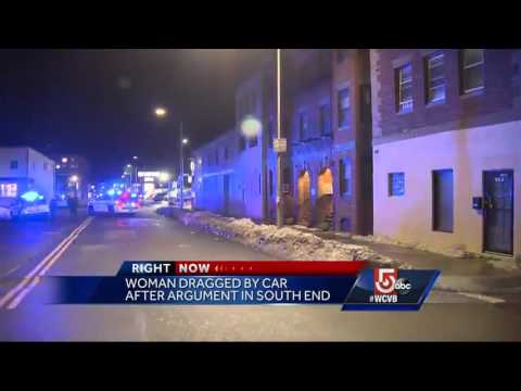 Woman dragged by car after South End argument