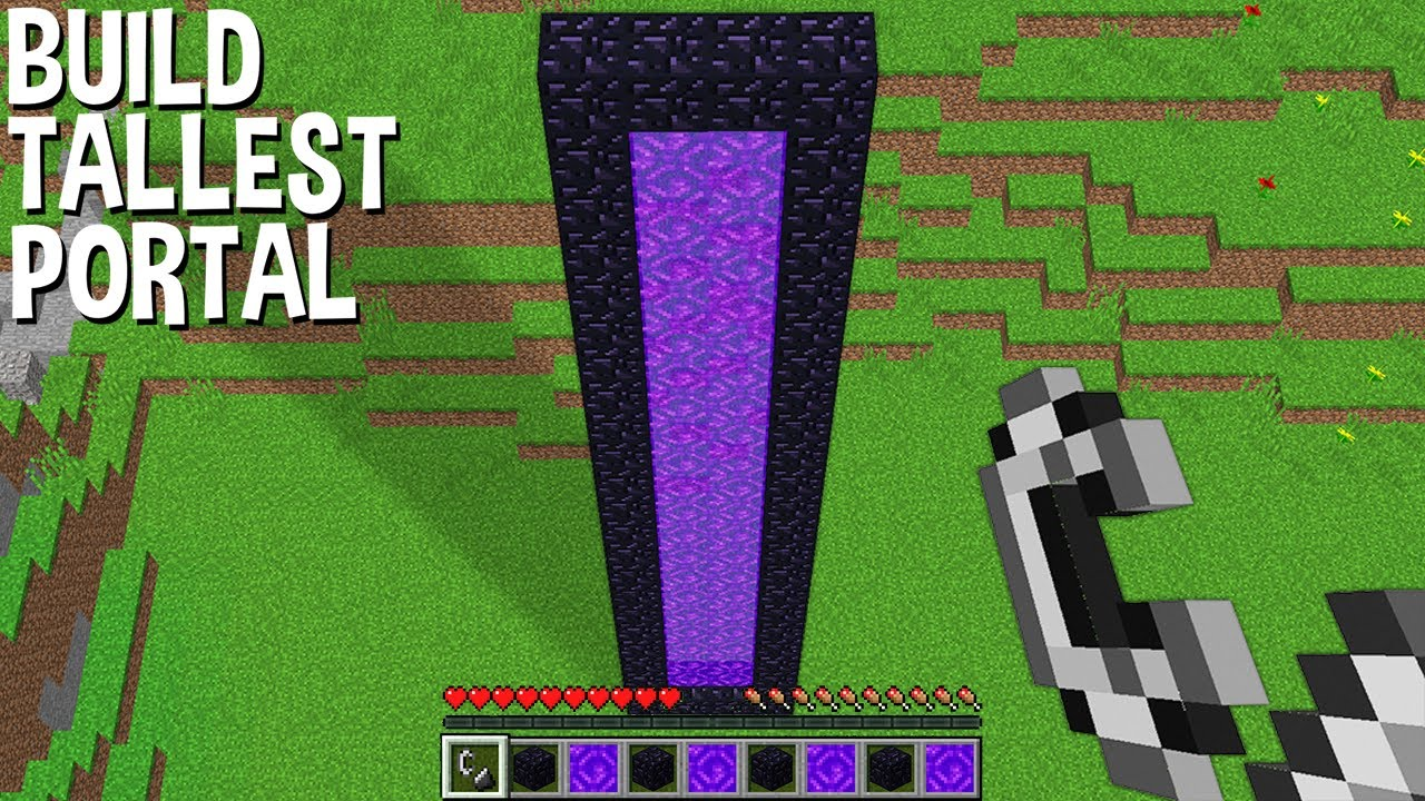 YOU will be SHOCKED if BUILD TALLEST PORTAL in Minecraft !!! CURSED PORTAL