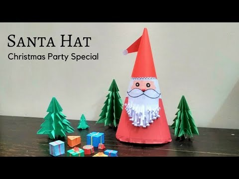 Christmas Party Special | Santa Claus Hat Origami | How To Make A Santa Claus Hat | Christmas Craft