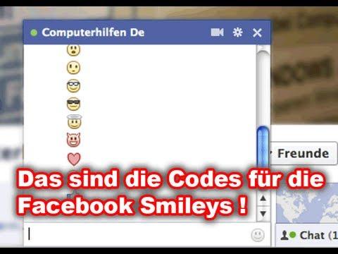 Facebook Smileys - So geht's - alle Bilder und Symbole für den Chat!