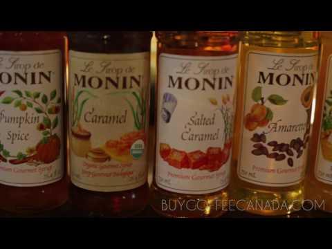 Monin Organic Caramel Syrup Latte from Buy Coffee Canada