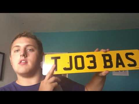 got my first private plate