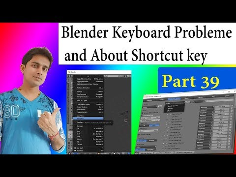Blender Keyboard Problem and Shortcut Key all about Solution Part in Hindi