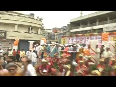 Shri Amit Shah's road show in Ambikapur, Chhattisgarh