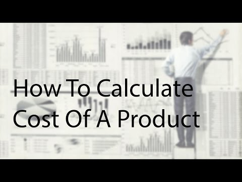 How to calculate the Cost of product