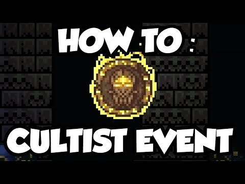Terraria 1.3 - Cultist Event - How To Spawn The Cultist Event + Ancient manipulator drop