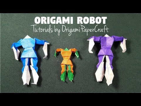How To Make Origami ROBOT   🤖 Tutorial By OrigamiPaperCraft