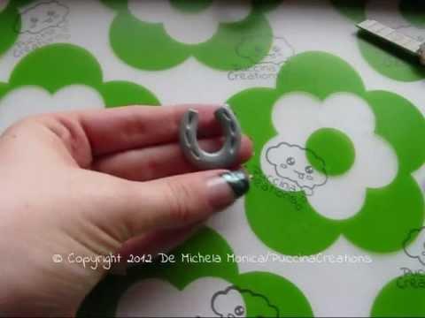 DIY Tutorial Ferro di Cavallo - Horseshoe (Fimo/Polymer Clay) | PuccinaCreations