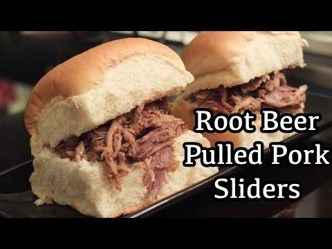 Superbowl Root Beer Pulled Pork Sliders