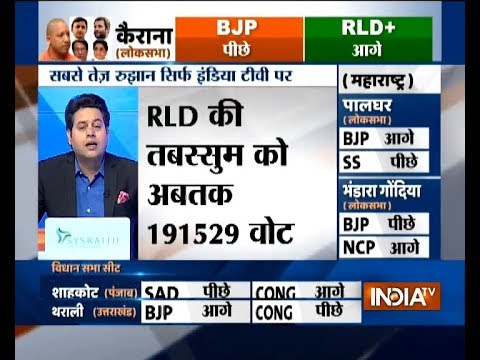 RLD's Tabassum Hasan leading by 26925 votes after 9th round of counting in Kairana